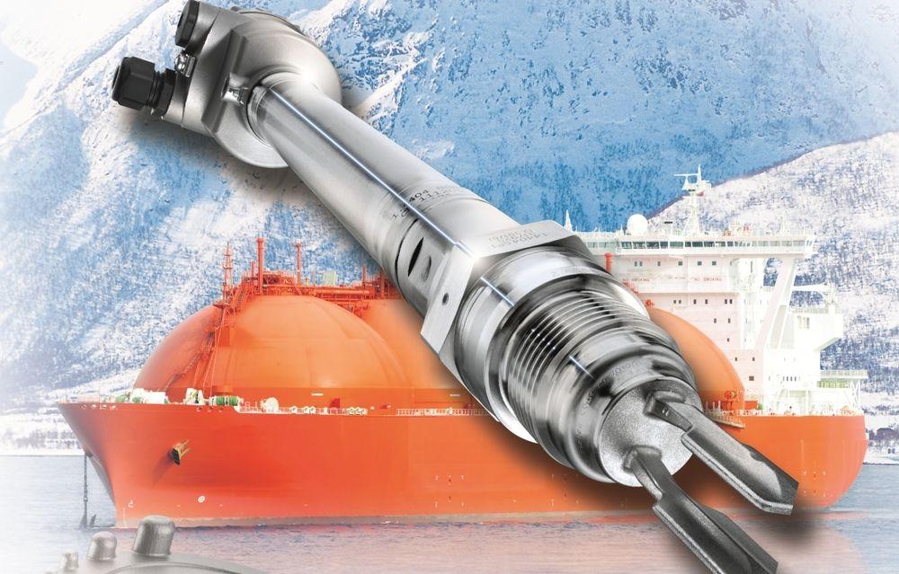 Vibrasjonsgaffel som jobber fra -196 til 450 grader celsius og i trykk fra vakuum til 450 bar.
