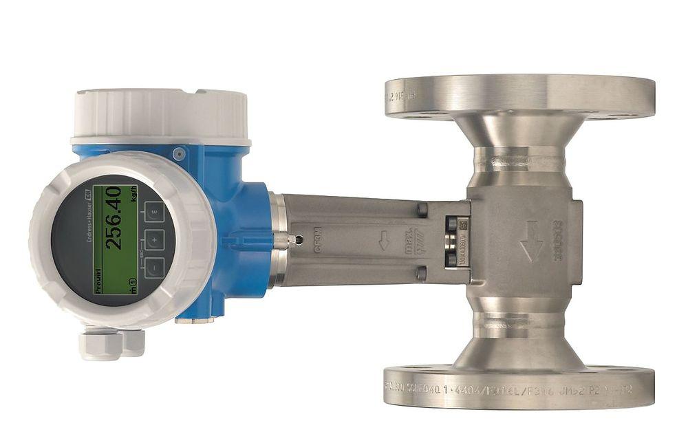 Vortex-måler som varsler for fuktig damp og kompenserer for mengden kondensat.