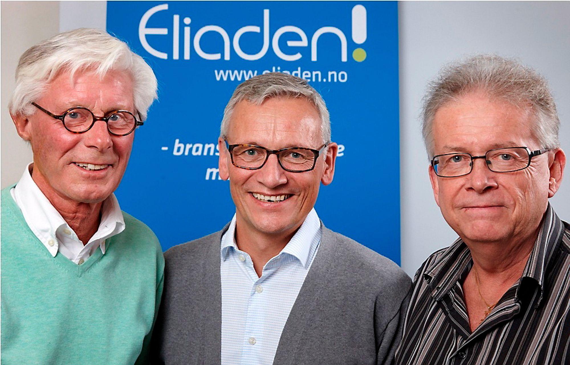Then There Were Three: PEA-gründerne Helge Bjørhall (t.v.) og Per Kølner flankerer Eliadens prosjektleder Nils Erik Magnell. I juni 2014 samles hele automatiseringsbransjen på Lillestrøm.