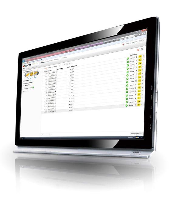 Systemet byr på fleksibel presentasjon og sortering av merker og skilt.