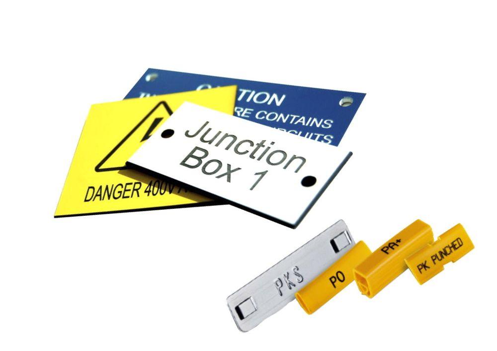 Nettbasert verktøy for oppsett og bestilling av merker til blant annet rekkeklemmer og kabler.