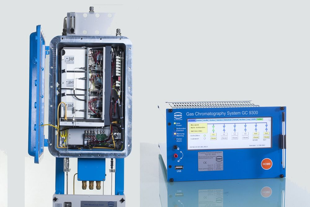 Gasskromatograf for naturgass som for eksempel kan måle både hydrogen- og oksygenkomponenter.