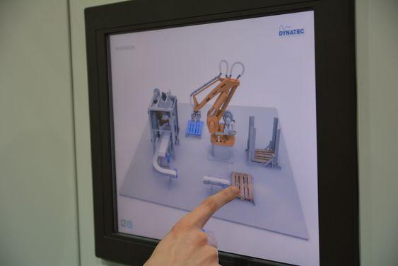 Brukervennlige skjermbilder i 3D gjør det enkelt for operatørene om de må kjøre pakkeanlegget manuelt.