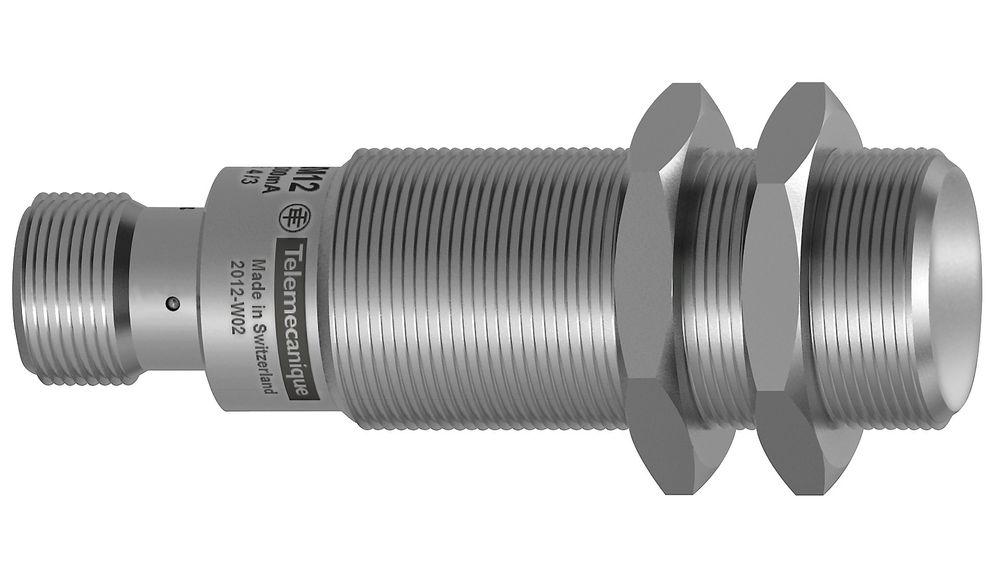 Induktiv føler som også detekter messing, kobber og andre ikke-jernholdige materialer inntil 40 mm.