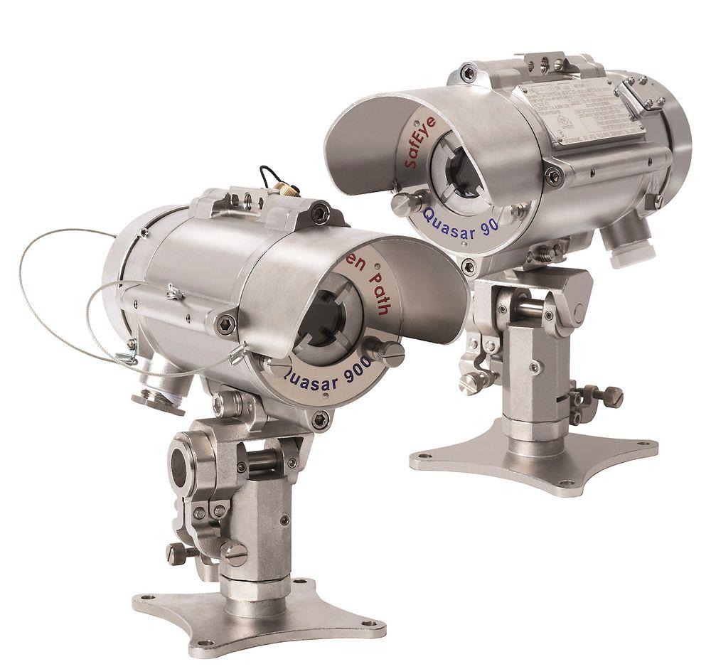 IR-linjegassdetektor med spesiallys som skal redusere feildeteksjon.