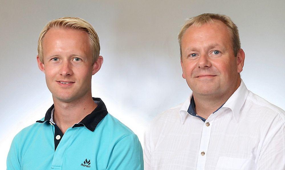 Daniel Sjønøst (til venstre) og Håkon Brakstad er nye hos Pepperl+Fuchs.