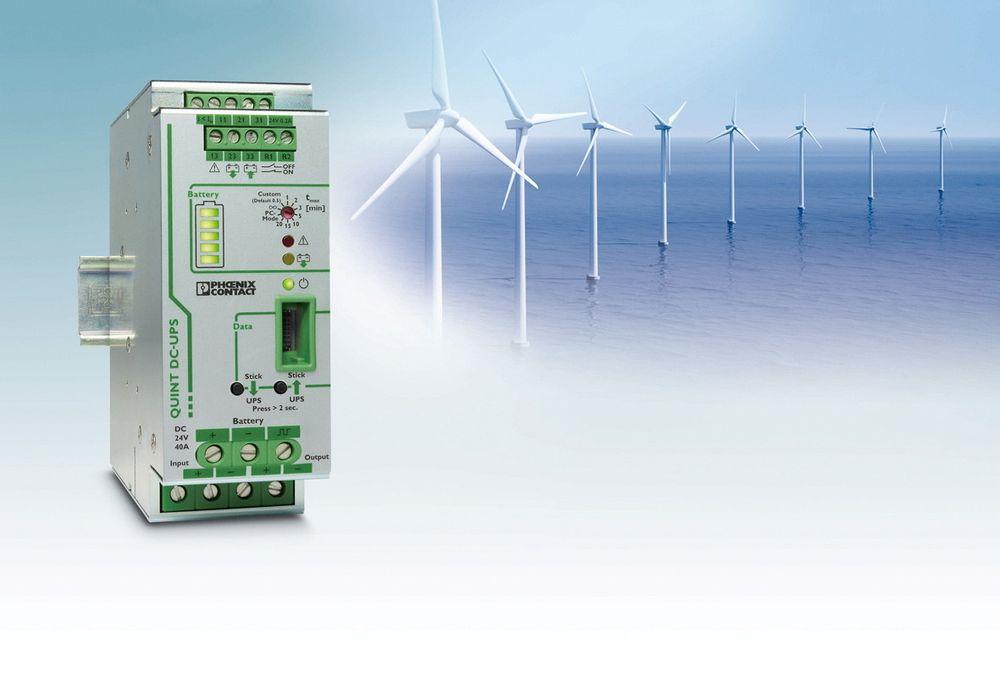 Stabil strømforsyning for vindmølleparker og industri ved tett integrasjon med smarte UPS-er.