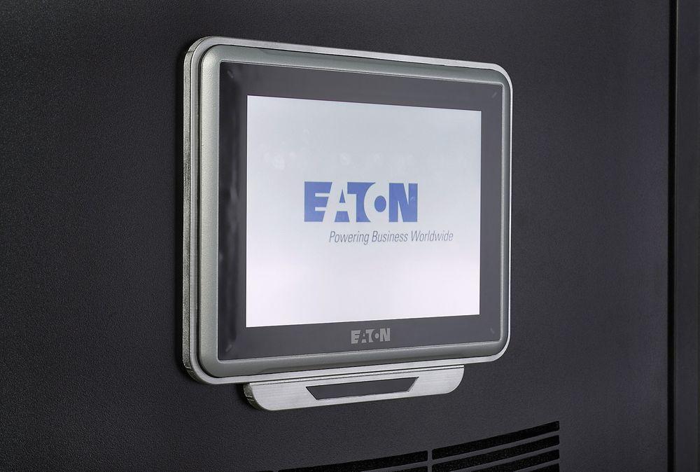 En 10 tommers touchskjerm forenkler bruk av Eatons UPS-er.