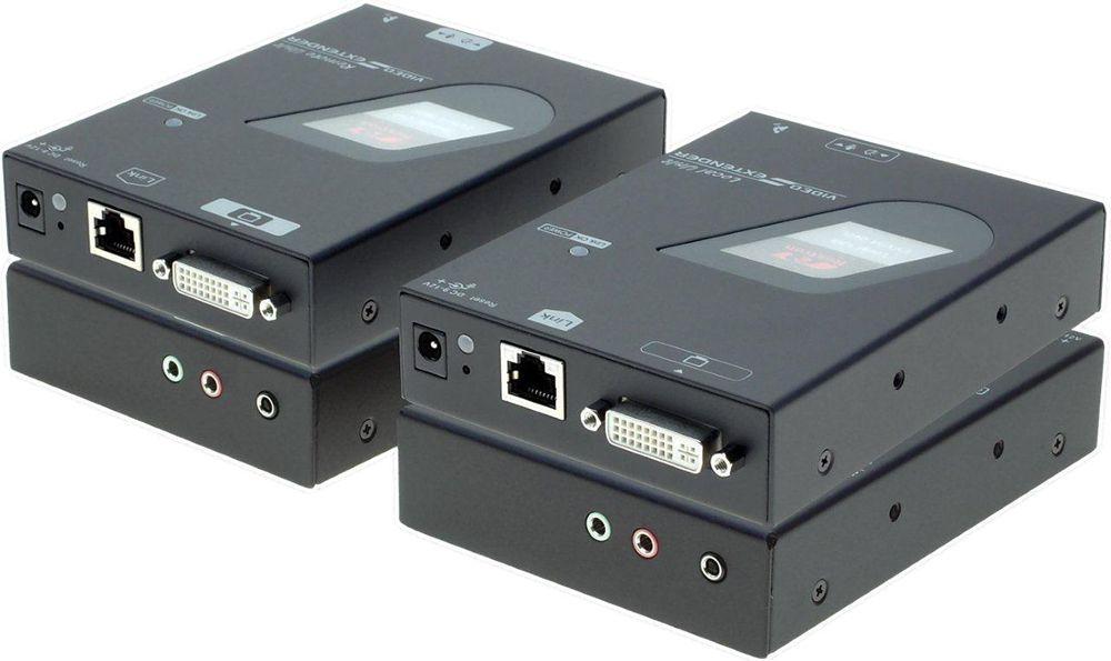 DVI-forlenger tar med riktig skjermoppløsning når Windows 7 eller 8 brukes med lange kabler.