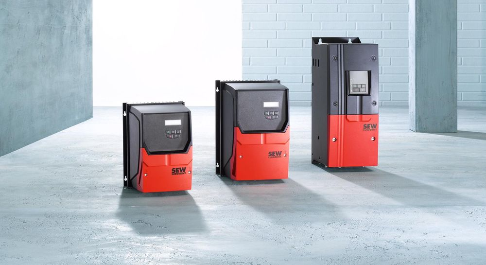 Frekvensomformere fra 0,75 til 160 kW i IP55.