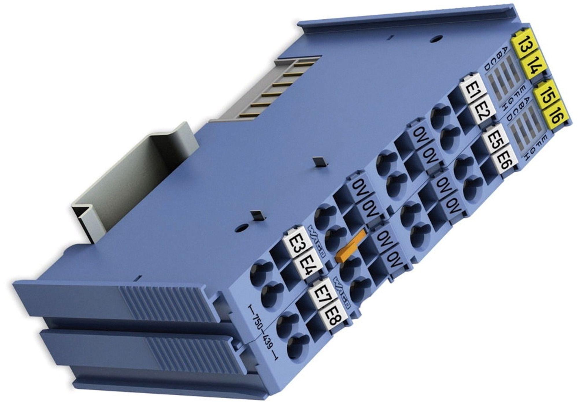 8-kanals Ex-i DI-kort, som håndterer Namur-sensorer, optokoblere og elektromekaniske brytere.