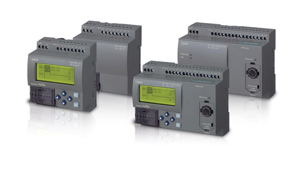 Mikro-PLS-er med Ethernet og Modbus, datalogging til SD-kort og mulighet for display.