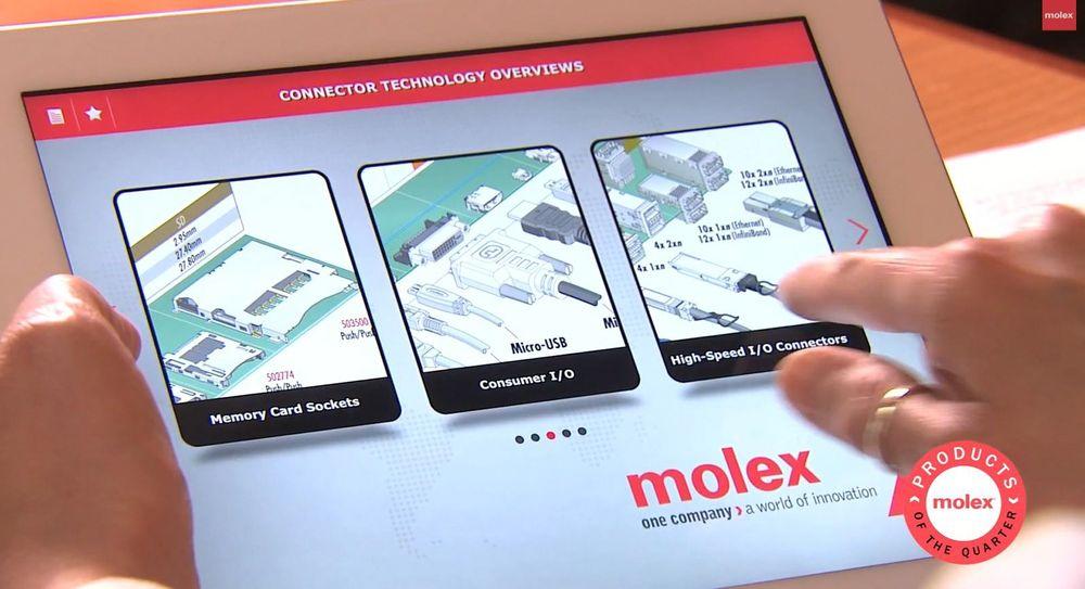 Ny app som gir tilgang til 90 produktfamilier hos Molex.