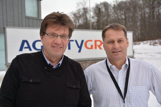 Fagleder for elektro, instrument og telekomm (EIT) Tore Selander (t.v.) sammen med engineeringssjef Steinar Hansen hos Agility Group styrer oppgraderingen av Sleipner.