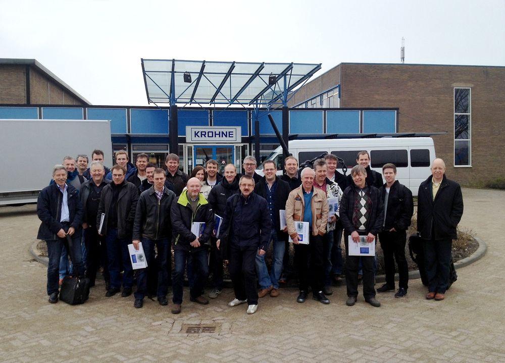 En norsk gruppe deltok på mengdemålingskurs i Nederland.