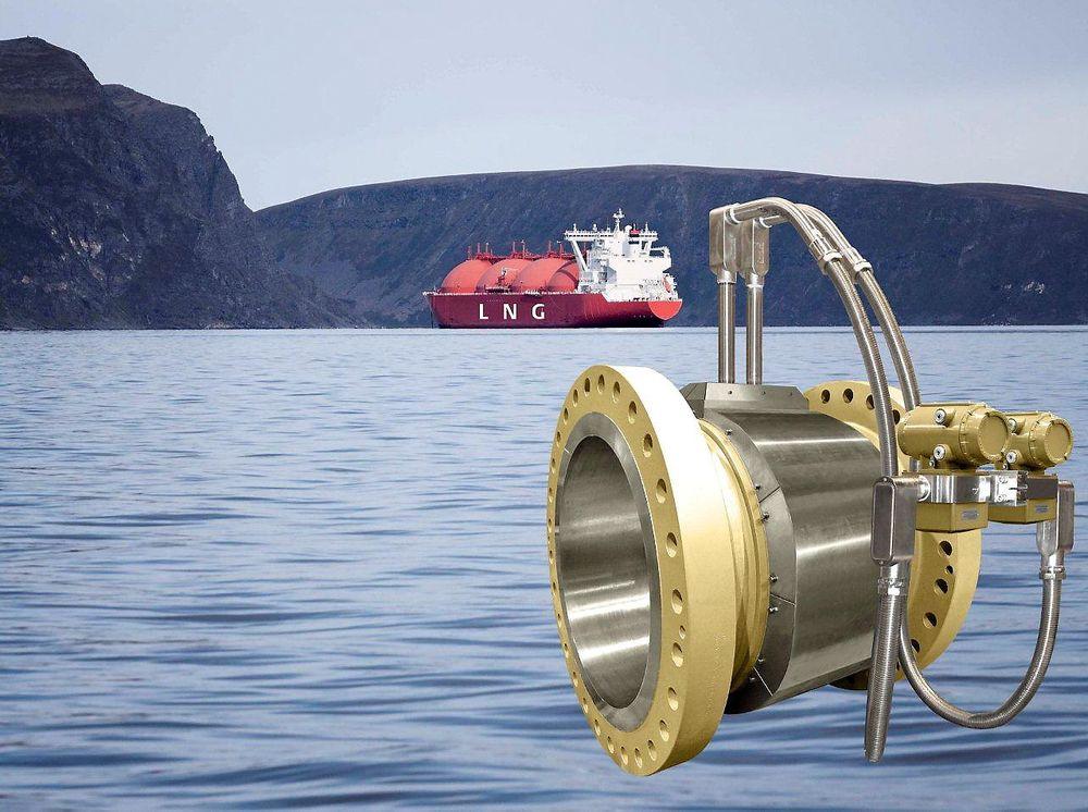 Fire- eller åttebaners ultralydmåler for nøyaktige LNG-målinger.