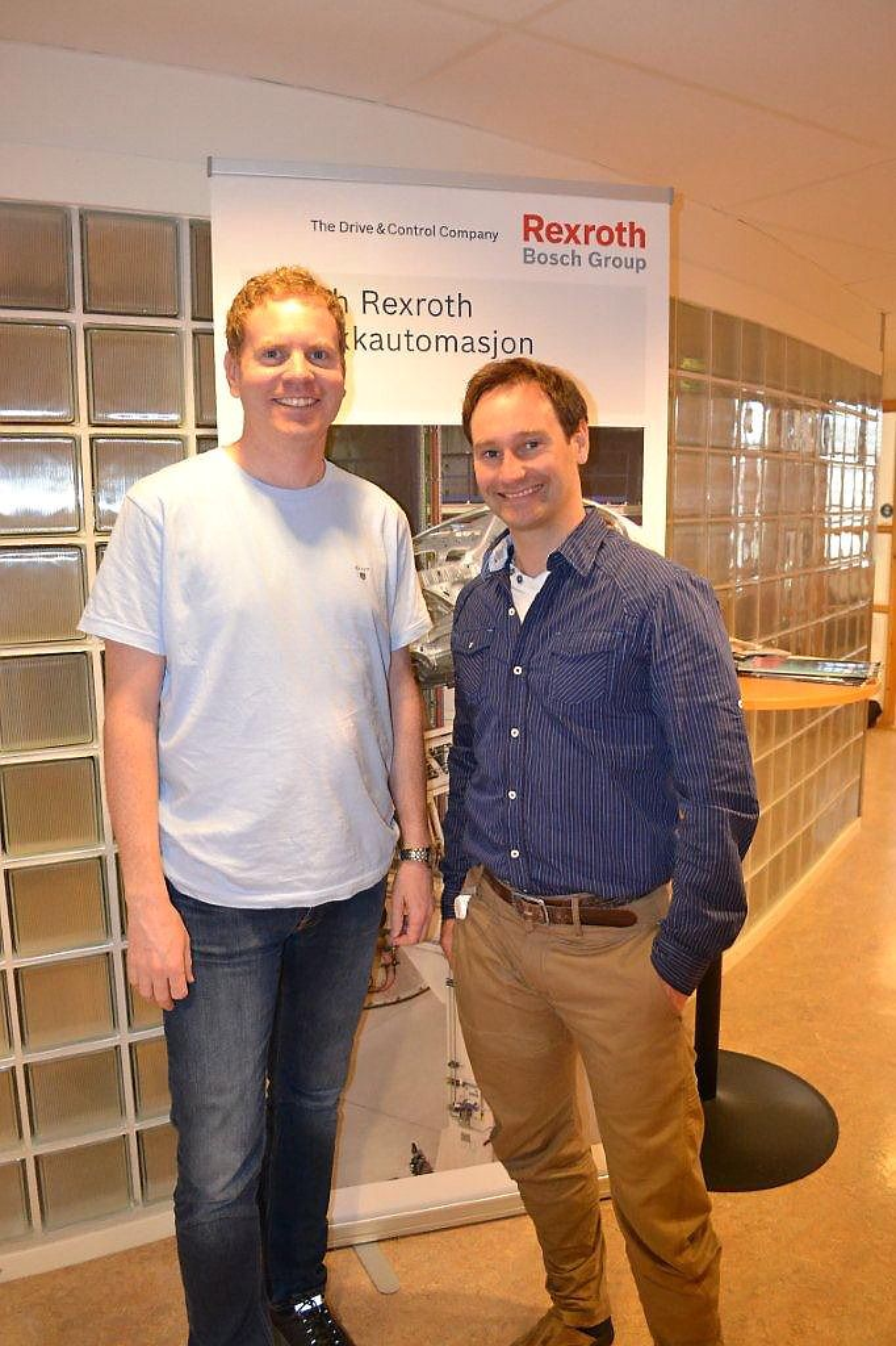 Roger Almaas (til venstre) og Tormod Eriksen har inntatt salgsteamet hos Bosch Rexroth.