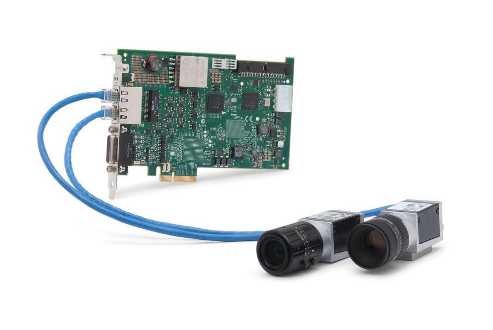 Moduler for maskinsyn som stiller med power over Ethernet (PoE).