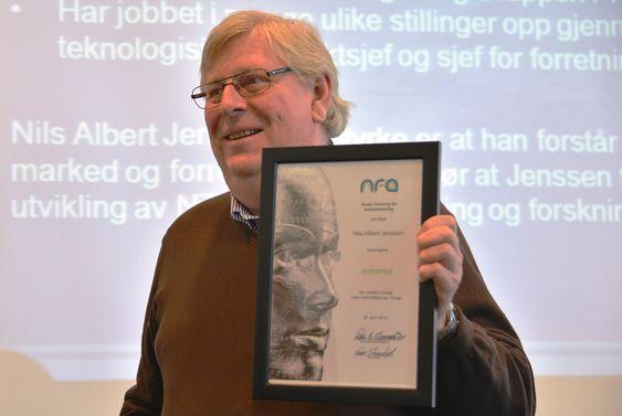 Nils Albert Jenssen hos Kongsberg Maritime er NFAs 14. æresmedlem.