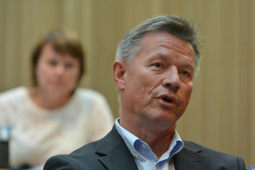 Tore Sandvoll (Endress+Hauser) overtar stafettpinnen som styreleder etter Ragnar Stokke (Yara).