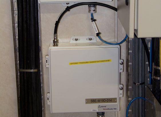 De trådløse Gatewayene, eller radioaksesspunktene, er installert i utstyrsrom, med antennene montert utendørs.