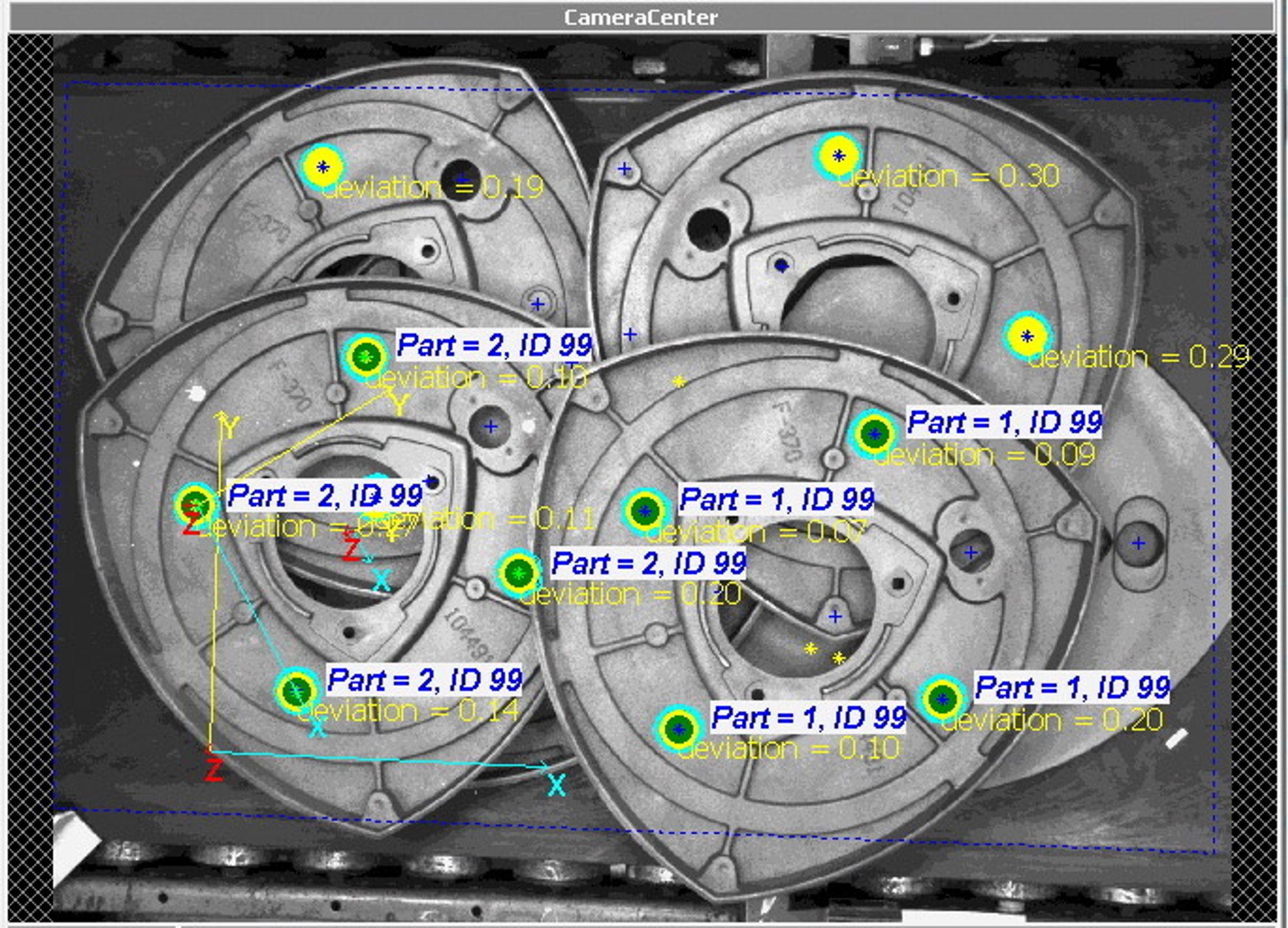 Bildebehandling er ingeniørkunskap, her et eksempel fra vilkårlig plukking fra kasse (random bin-picking).