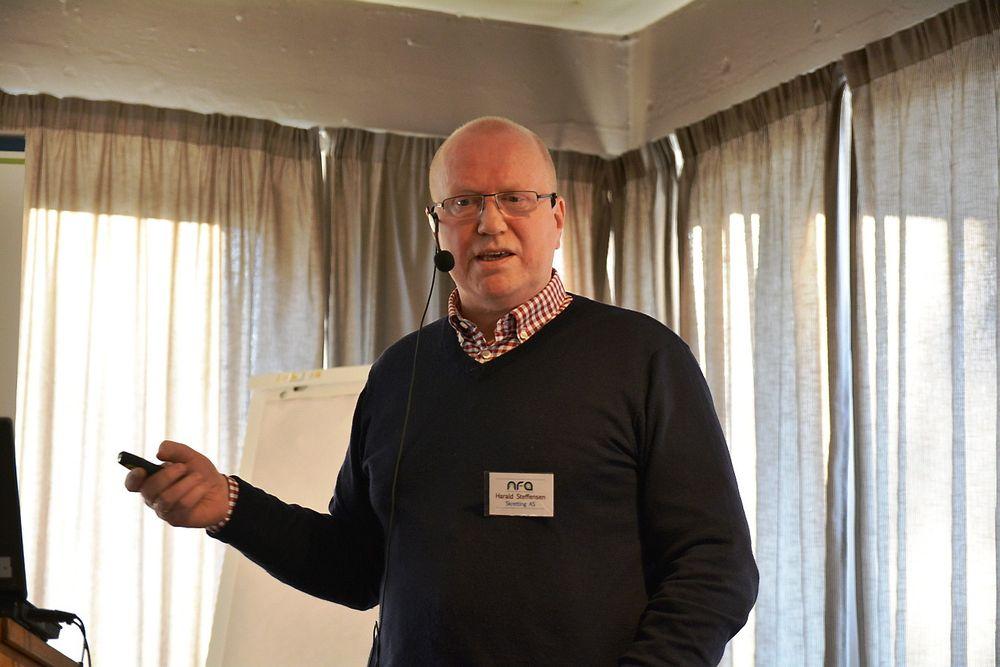 Det du ikke kan måle, kan du ikke forbedre, sier driftsingeniør Harald Steffensen i Skretting, og sikter til energiforbruket.