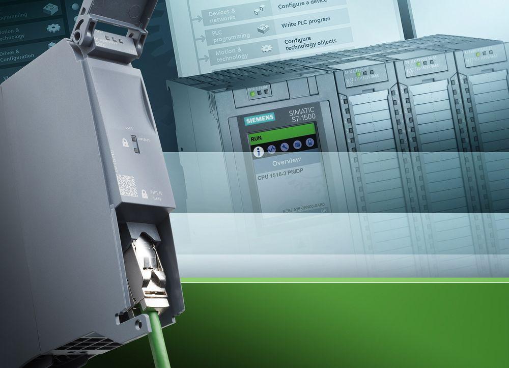 Profinet-kort for Siemens nye S7-1500 PLS som er lastet med sikkerhetsfunksjoner.
