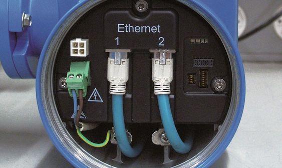 Fjordkjøkken kjører industrielt Ethernet (Ethernet/ip) rett i sine nye mengdemålere.