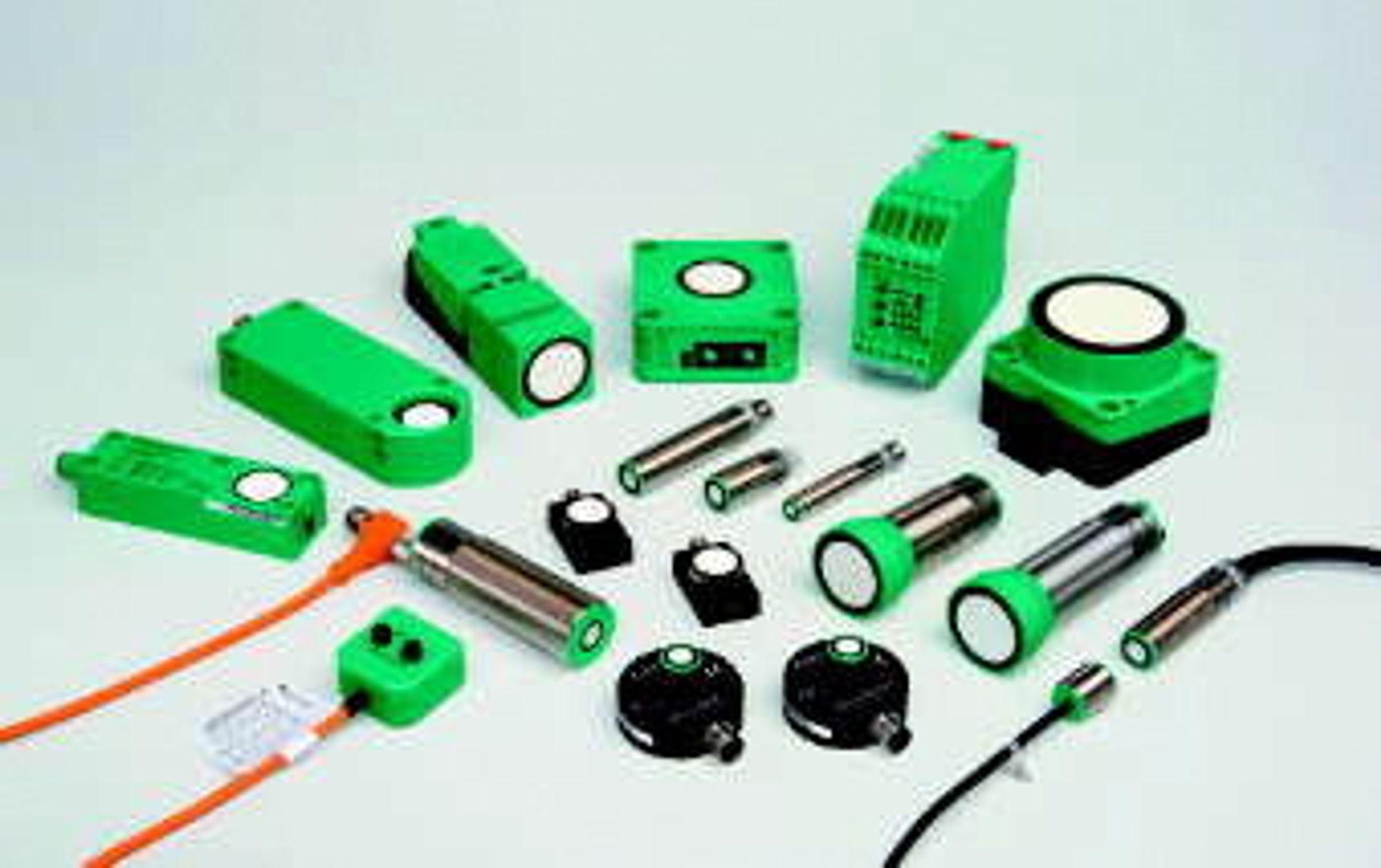 Ultralyd sensorer/givere finnes i en rekke ulike utførelser.