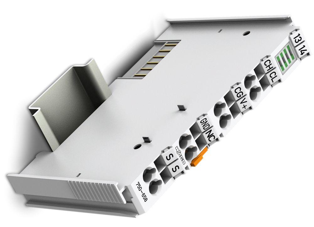 Kommunikasjonsmodul for CANopen, DeviceNet og SAE-J1939 til Wagos 750-system.