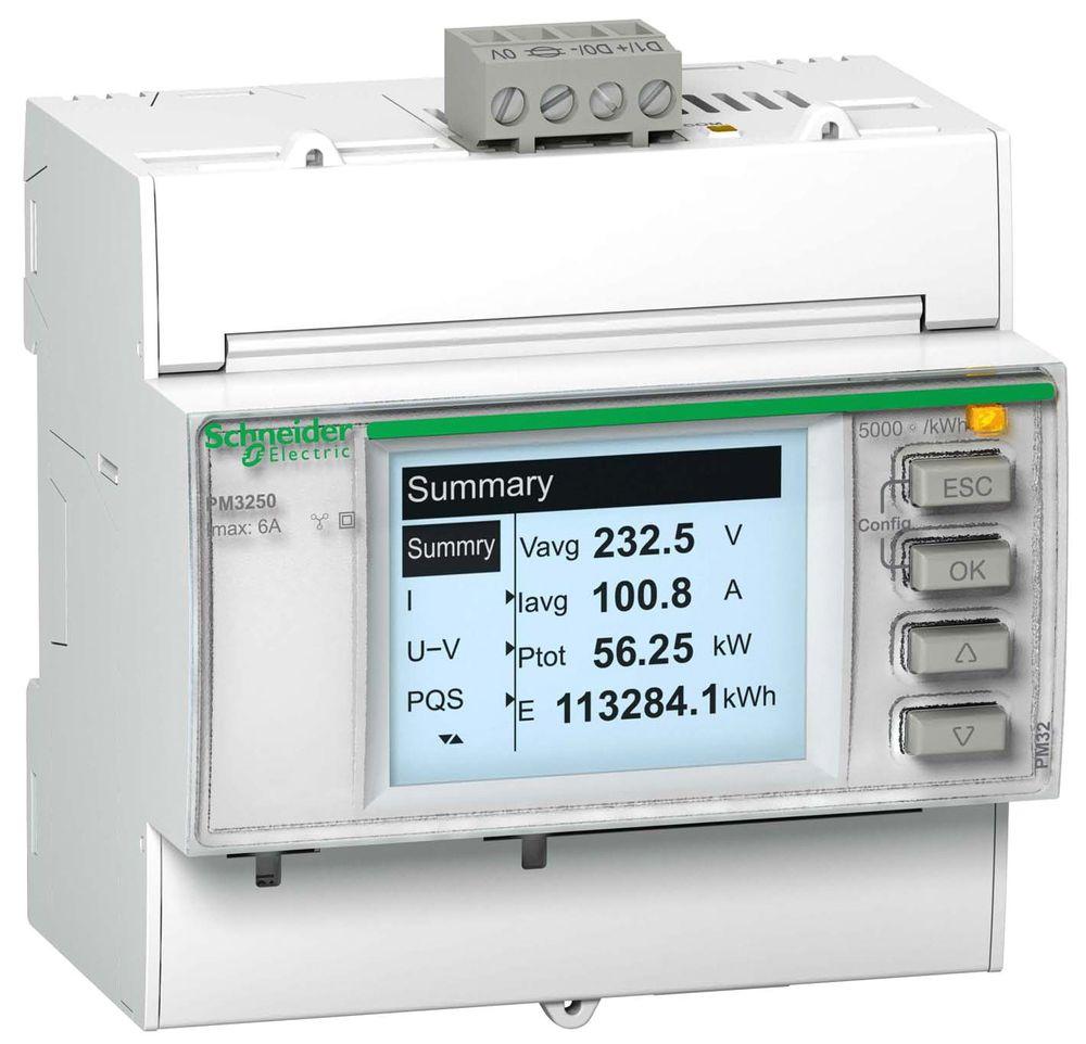 Brukervennlig trefase nettanalysator som stiller kommunikasjon mot eksterne systemer.