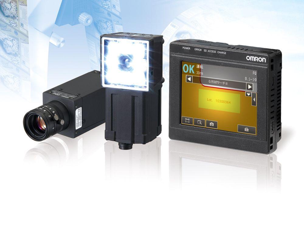 Mangfoldig maskinsyn med inntil 1,3 millioner piksler som dekker form-søk, fargedeteksjon, optisk karaktergjenkjennelse (OCR), kodelesing og verifisering.