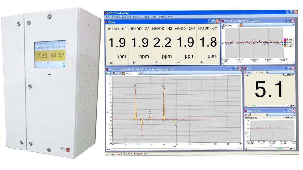 Gasskromatograf for både gass- og væskestrømmer, med flere innkapslingsmuligheter og Atex-versjon for sone 1 og 2.