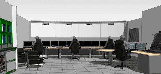 Det sentrale kontrollrommet på Valemon får storskjerm på nærmere ti meters bredde og videoprojektorer med såkalt RLS (remote light source).