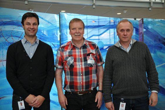Sentral trio i automatiseringen av Valemon (f.v.), Kjetil Aarnes (Agility Group), Fridtjof Wiik (Statoil) og Øyvind Nikolaisen (Agility Group).