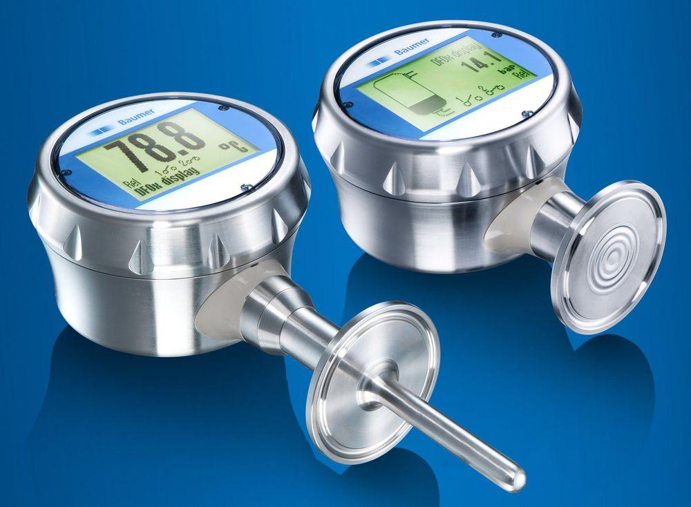 Trykk- og temperatursensorer som melder fra på touchskjermen når måleverdien havner utenfor normalt arbeidsområde.