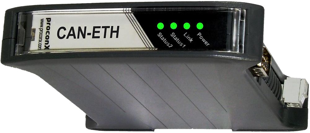 Den monteres på DIN-skinner. CAN-pakkene blir overført i UDP-pakker (user datagram protocol), og sender dem via Ethernet. Gateway-en støtter både peer-to-peer og broadcast mode.   All konfigurasjonen gjøres enkelt via en innebygget webserver.  Den støtter CAN-bus hastigheter fra 10kb/sekund og opp til 1Mb/sekund. Temperturspesifikasjonen sier 0 til +60 °C.