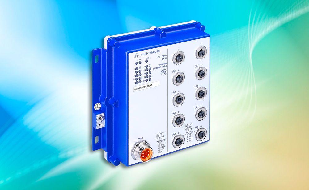 Kompakte switcher med PoE og integrerte strømforsyninger.