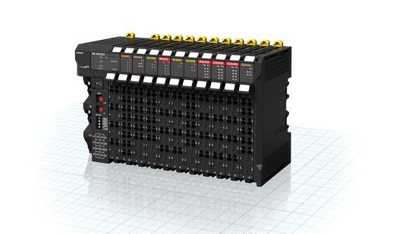 Omrons nye distribuerte I/O, NX, kan benyttes for både maskin- og sikkerhetskontrollere, og kjører på Ethercat som feltbuss.