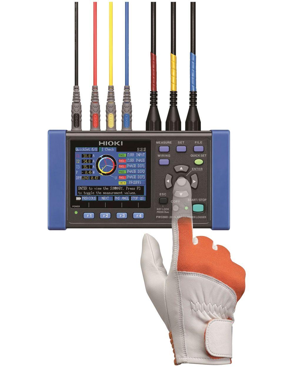Allsidig og brukervennlig energitester med stort temperaturområde og langtidslogging.