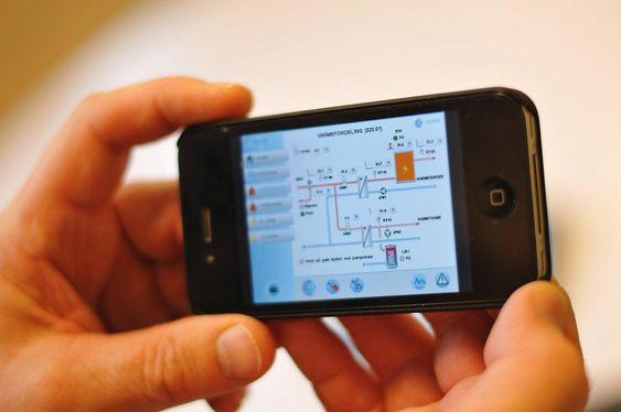 Selv om Ipaden ikke er med, kan anlegget styres fra Iphone.