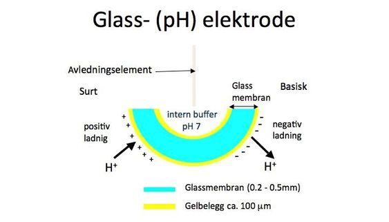Gel-sjiktet, ytterst på elektroden, er kjernen i pH-målingen, og må alltid holdes fuktig (og ren!).