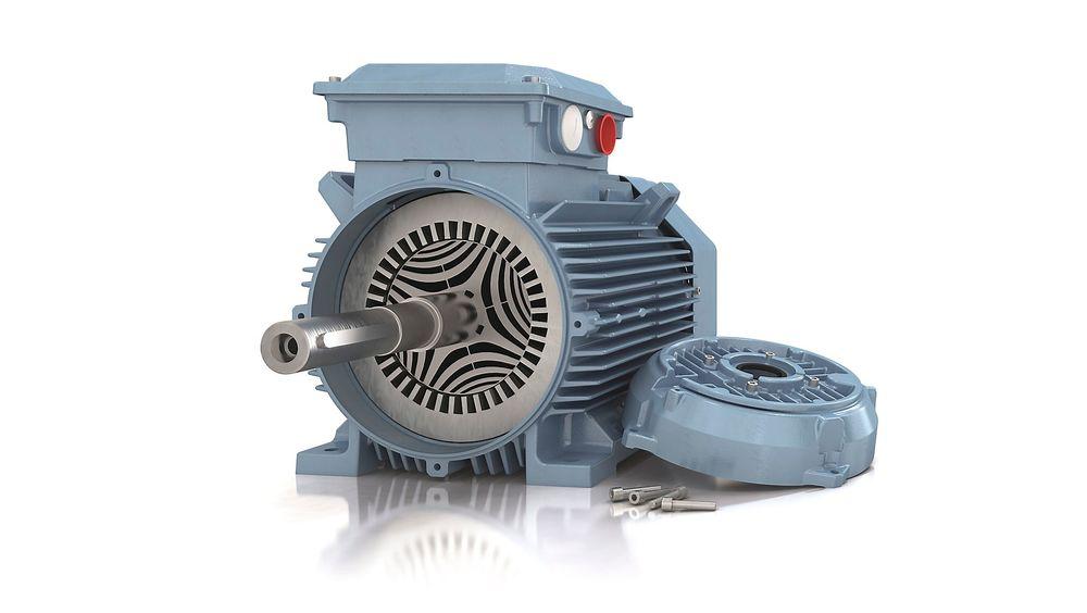Reluktansmotorer med høyeste virkningsgrad (IE4) som med tilhørende frekvensomformere skal være optimalisert for vifte- og pumpeapplikasjoner.