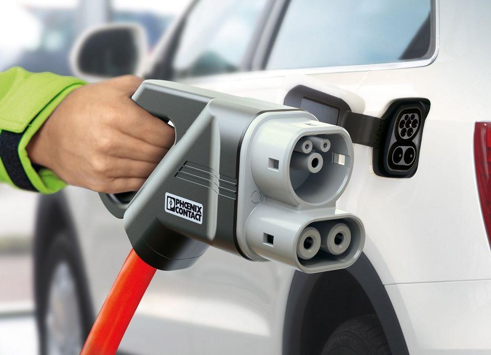 Ladesystem for elektriske kjøretøy som leverer både like- og vekselstrøm.