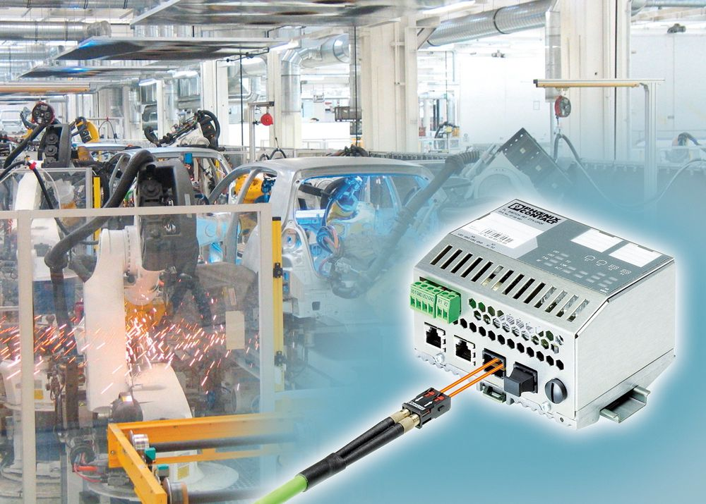 Switcher for Profinet IRT med to eller tre fiberporter.
