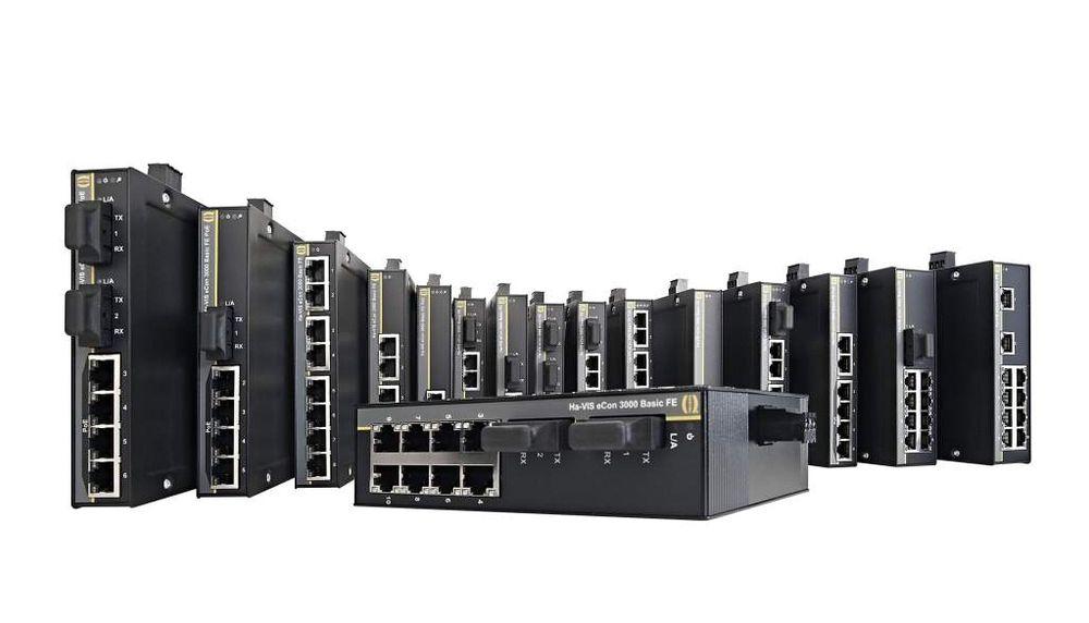 Ha-VIS eCon ethernet switcher fra Harting