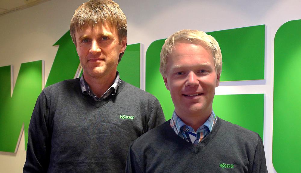 Terje Gunnar Steinsvik (t.v.) er ny distriktssjef hos Wago i Stavanger mens Stian Karlsen er ansatt som distriktssjef i Stavanger.
