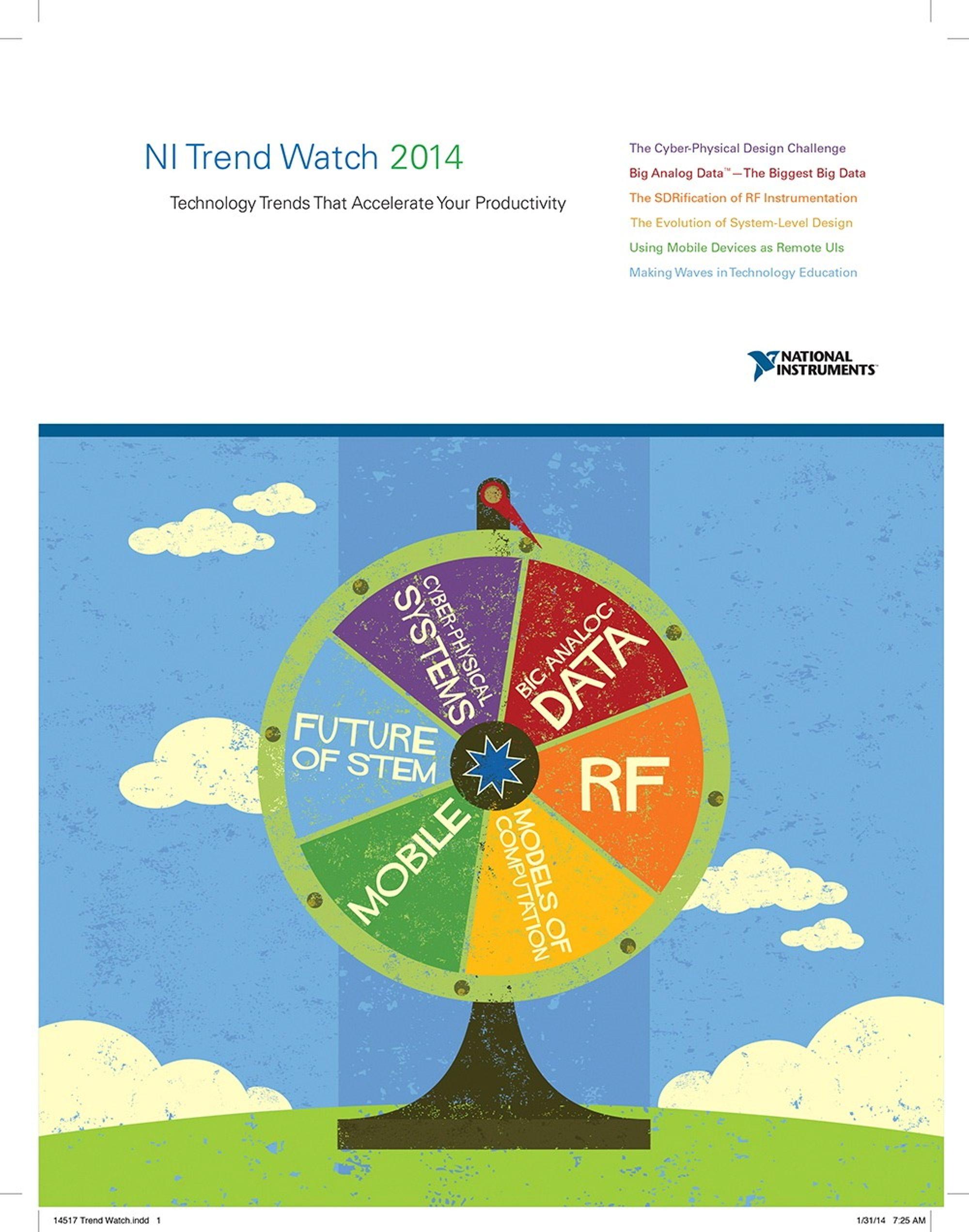 Rapporten tar for seg trender innenfor måling, sensorer og testing.