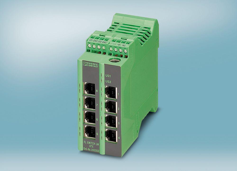 Oppgradert switch som kan kjøre Profinet, blant annet med funksjoner som PTCP-filter (Precision Transparent Clock Protocol).